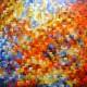 Quadro abstrato multicolorido pintado a mão 100x120 código 859