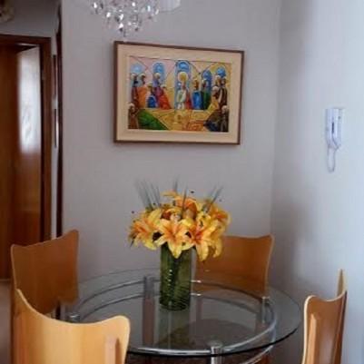 Quadro decorativo Santa ceia colorida moderna pintada a mão medida 40x60 código  67