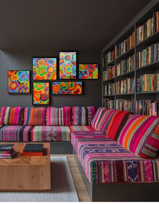 Quadros abstratos multicoloridos, Ágata, pintado a mão para composição código 1098