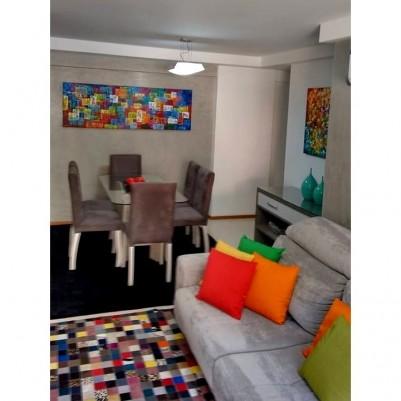 Quadro abstrato multicolorido geométricos espatulado pintado a mão 60x180 código 875