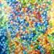 Quadro abstrato multicolorido pintado a mão, vertical , original,110x140 código 1184