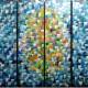 Quadros abstratos multicoloridos pintado a mão para composição cada 30x100 código 1216