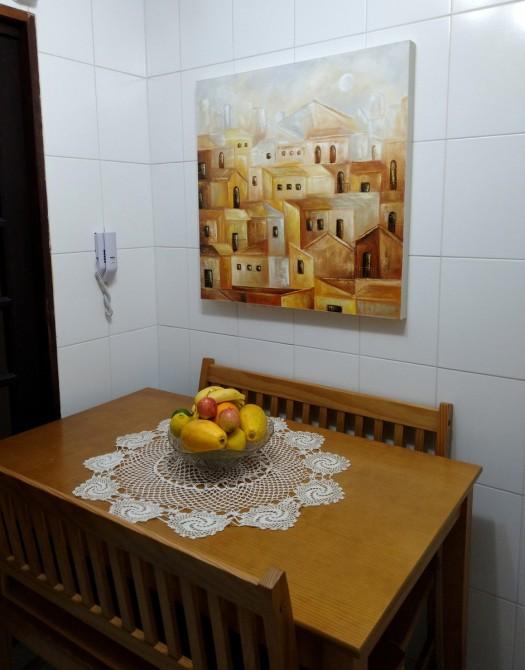 Quadro casario estilo moderno abstrato cores indiano, pele e cinza 1a  80x80 código 1307